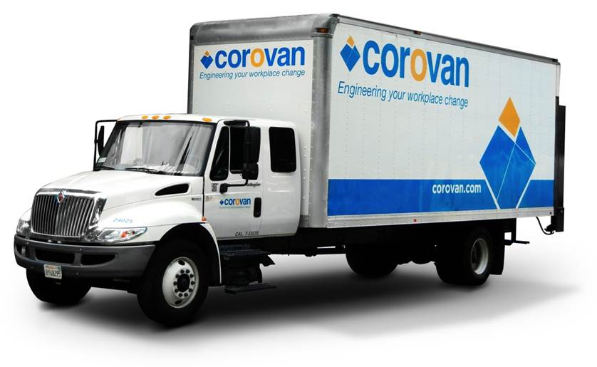 Office Moving Services - Corovan Truck